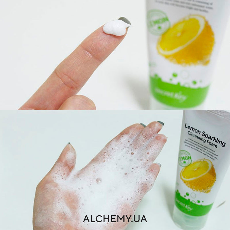 Penka dlya umyvaniya  Secret Key Lemon Sparkling Cleansing Foam 120g