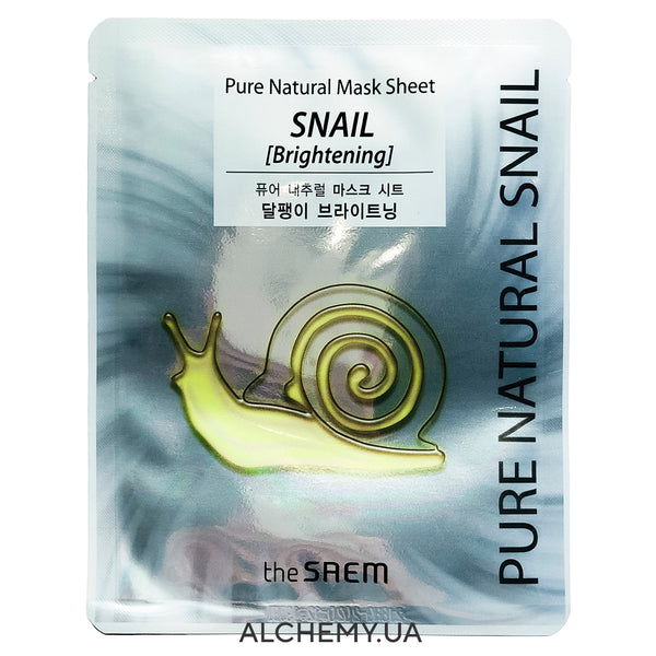 Tkanevaya maska THE SAEM Pure Natural Mask Sheet Snail Brightening