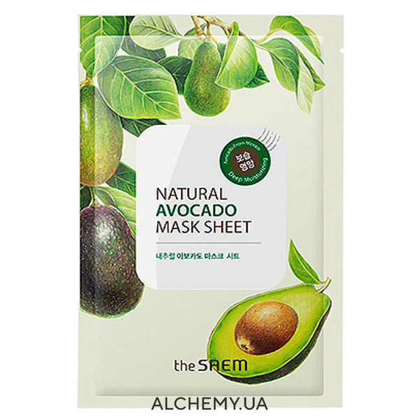 Тканевая маска THE SAEM Natural Mask Sheet Avocado