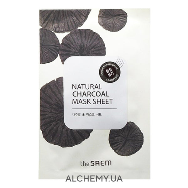 Tkanevaya maska THE SAEM Natural Mask Sheet Charcoal (Drevesnyj ugol)