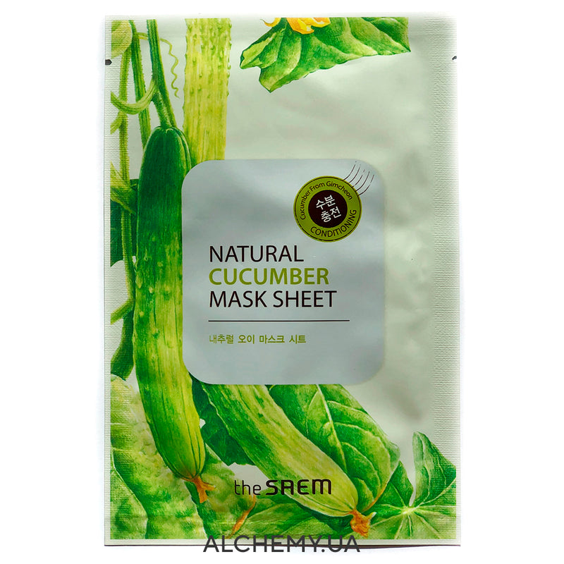 Тканевая маска THE SAEM Natural Mask Sheet Cucumber (Огурец)