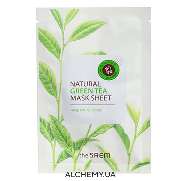 Тканевая маска THE SAEM Natural Mask Sheet Green Tea