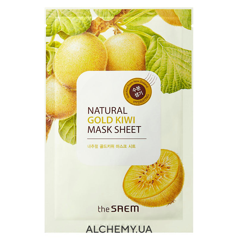Тканевая маска THE SAEM Natural Mask Sheet Gold Kiwi