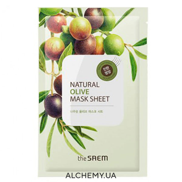 Тканевая маска THE SAEM Natural Mask Sheet Olive