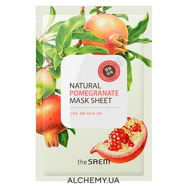 Tkanevaya maska THE SAEM Natural Mask Sheet Pomegranate