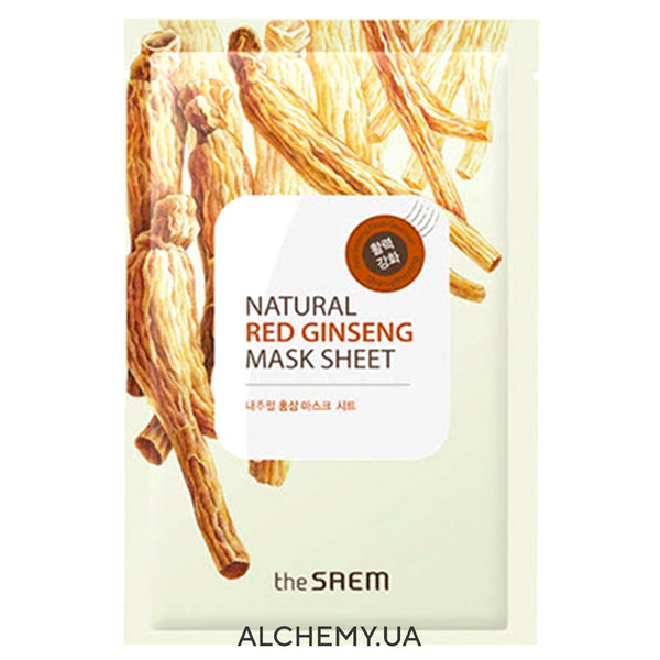 Tkanevaya maska THE SAEM Natural Mask Sheet Red Ginseng