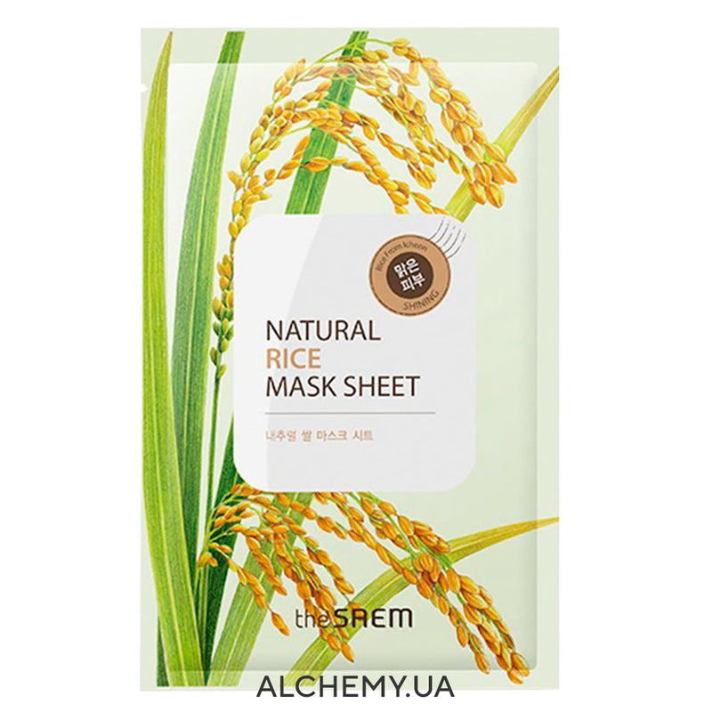 Tkanevaya maska THE SAEM Natural Mask Sheet Rice