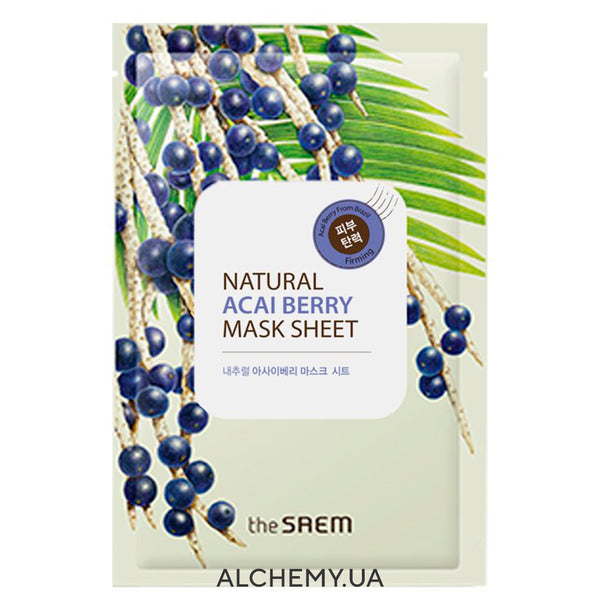 Тканевая маска THE SAEM Natural Mask Sheet Acaiberry