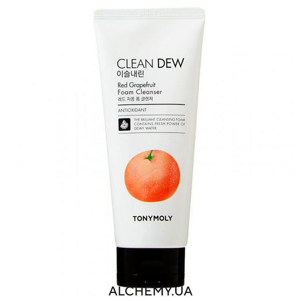 Penka dlya umyvaniya s krasnym grejpfrutom TONYMOLY Clean Dew Foam Cleanser 180ml Red Grapefruit