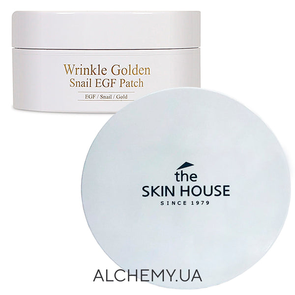 Gidrogelevye patchi s zolotom, EGF i ulitkoj The Skin House Wrinkle Golden Snail EGF Patch