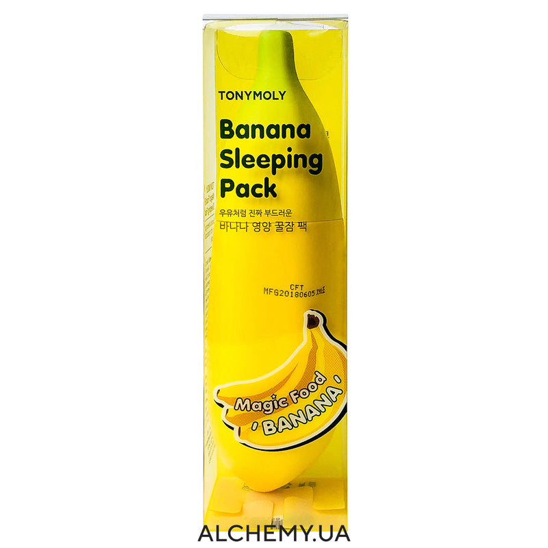 Pitatelnaya bananovaya maska TONYMOLY Magic Food Banana Sleeping Pack 85ml