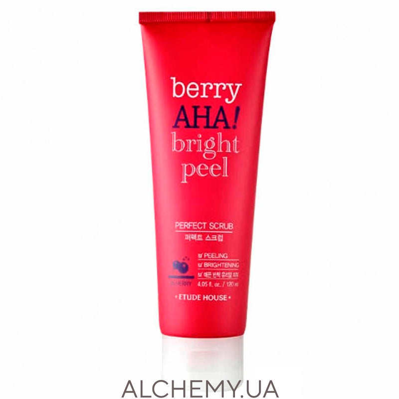 Скраб для лица с AHA-кислотами Etude House Berry AHA Bright Peel Perfect Scrub 120ml Alchemy.com.ua