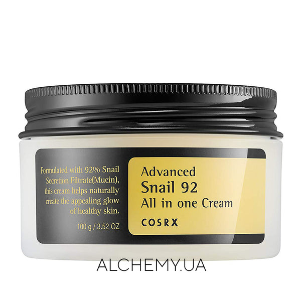 Крем с муцином улитки COSRX Advanced Snail 92 All In One Cream 100g Alchemy.com.ua
