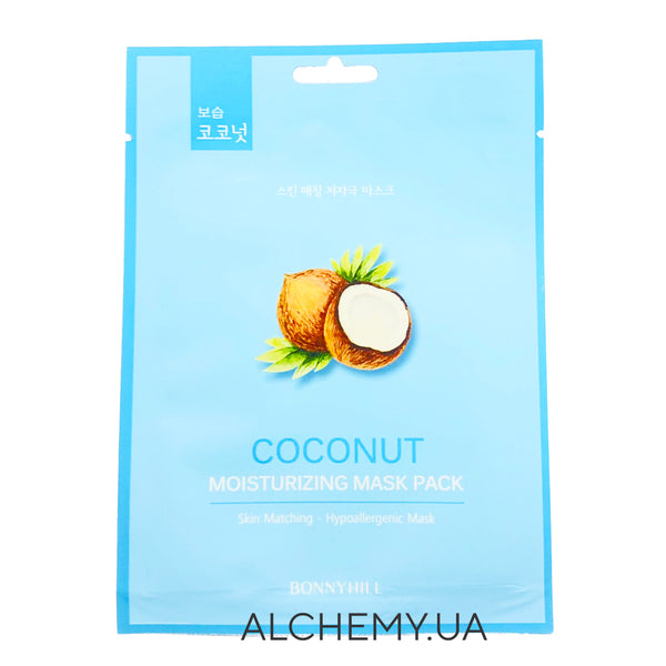 Тканевая маска BONNYHILL Moisturizing Mask Sheet - Cubra Coconut Alchemy.com.ua
