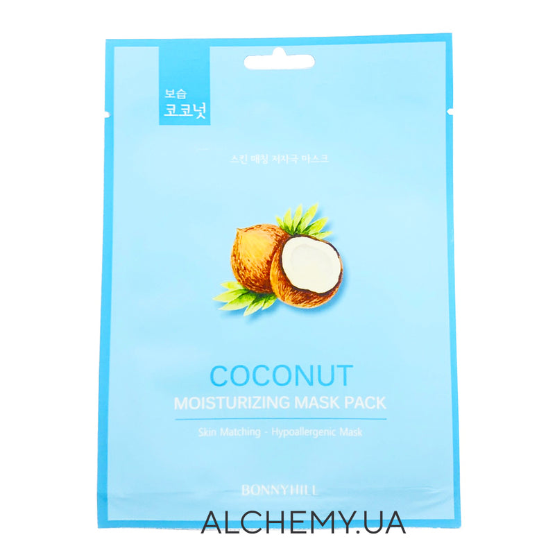 Тканевая маска BONNYHILL Moisturizing Mask Sheet - Cubra Coconut