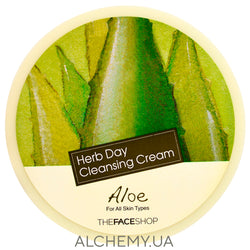Очищающий крем алоэ THE FACE SHOP Herb Day Cleansing Cream Aloe Alchemy.com.ua