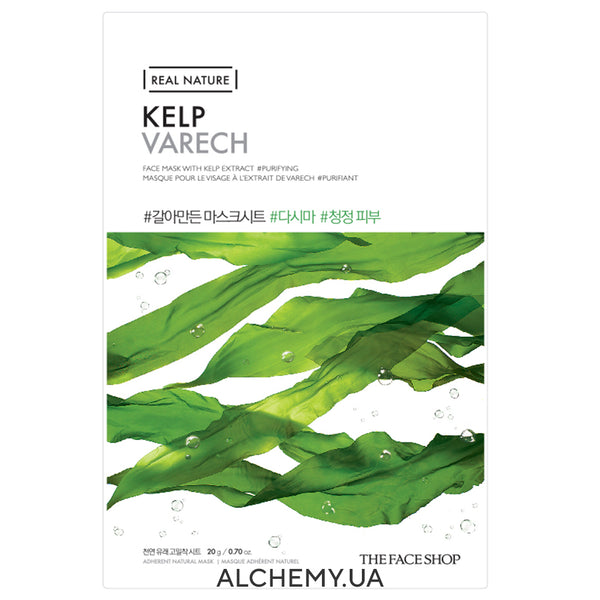 Тканевая маска THE FACE SHOP Real Nature Face Mask Type Kelp (Ламинария)