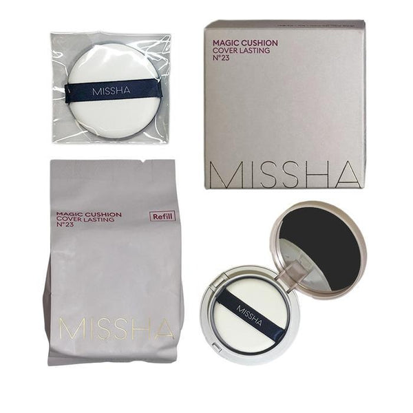 КУШОН MISSHA MAGIC CUSHION COVER LASTING SET SPF50+ PA+++ NO.23 15ML +рефилл
