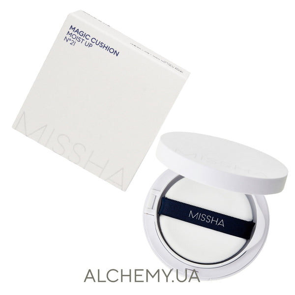 Увлажняющий тональный кушон Missha M Magic Cushion Moist Up SPF50+/PA+++ №21 Alchemy.com.ua
