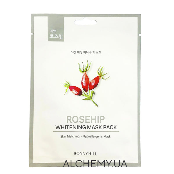 Тканевая маска BONNYHILL Brightening Mask Sheet - Rosehip Alchemy.com.ua
