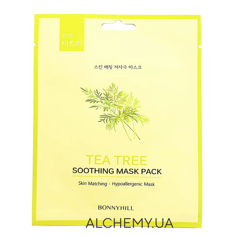 Тканевая маска BONNYHILL Soothing Mask Sheet - Tea Tree Alchemy.com.ua
