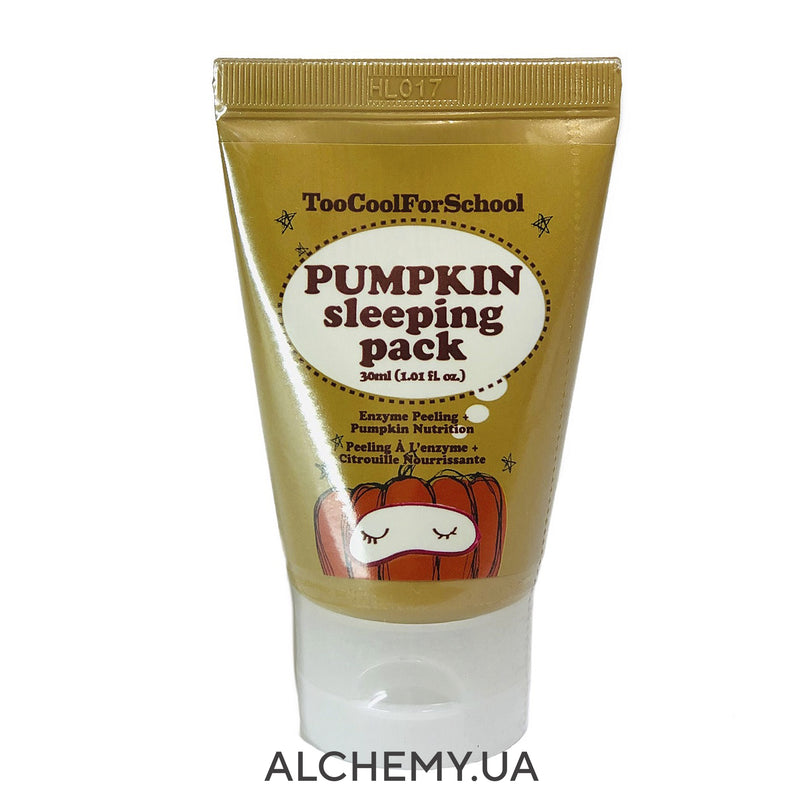 Pitatelnaya nochnaya maska-piling TOO COOL FOR SCHOOL Pumpkin Sleeping Pack Mini 30ml