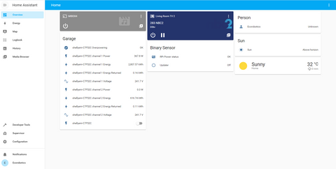 Dashboard with Shelly and Google Cast