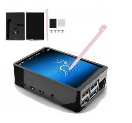 3.5 Inch LCD Display Touch Screen Monitor, Case and Pen for Raspberry Pi 4/4B