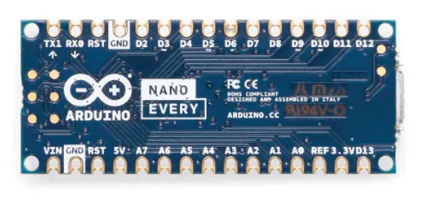 Arduino Nano Every without Headers