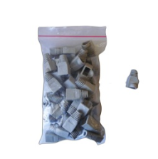 Acconet RJ45 Connector Boots, Grey, 50 Pack