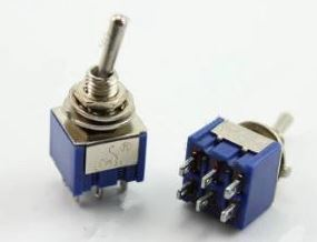MTS-203 SPDT ON-OFF-ON 6A 125VAC Toggle Switches.