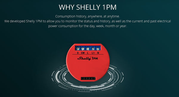 Shelly 1PM WiFi Operated Relay Switch