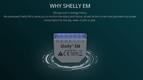 Shelly EM + 2 x 50A Clamp