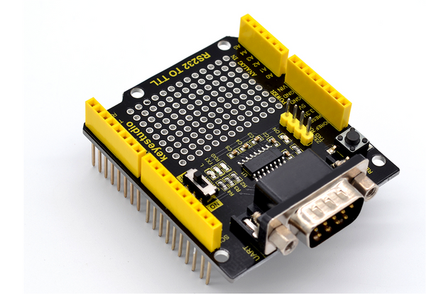 RS232 to TTL Conversion Shield Compatible with Arduino