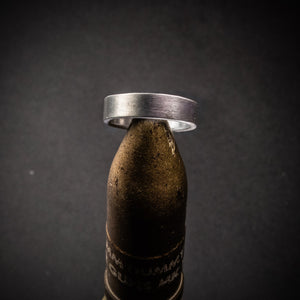 Recycled Shotgun Barrel Ring with Brushed Finish, Brushed Shotgun Barrel Band