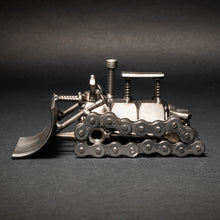 Scrap Metal Bulldozer Figurine, Steel Dozer, Nuts and Bolts Dozer Sculpture