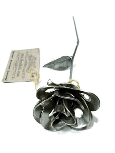 Metal Rose, Recycled Metal Rose, Steel Rose Sculpture, Welded Rose, Steampunk Rose, Immortal Rose.