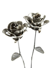 Two Metal Roses, Metal Rose Pair, Metal Rose Sculptures, Steampunk Roses, Two Forever Roses.