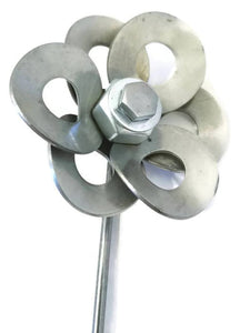 Metal Daffodil, Recycled Metal Daffodil, Steel Daffodil Sculpture, Welded Daffodil Art.