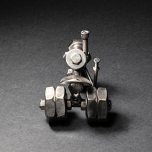 Scrap Metal Dually Tractor Figurine, Steel Tractor, Nuts and Bolts Tractor Sculpture