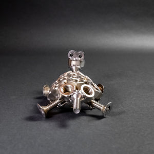 Scrap Metal Turtle Figurine, Steel Tortoise, Nuts and Bolts Turtle Sculpture