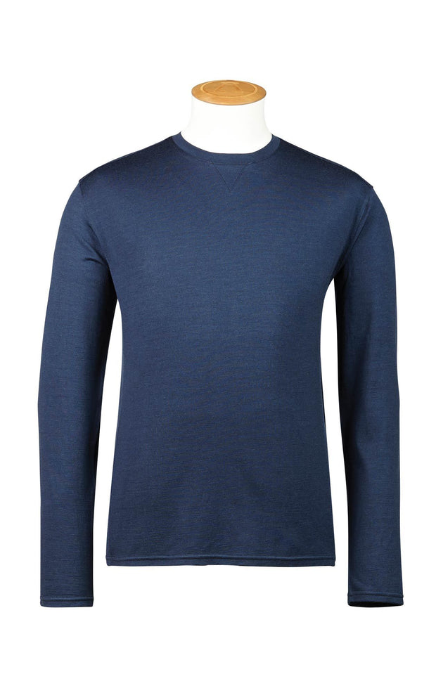 180GSM SINGLE JERSEY MERINO LS CREW