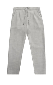WOOL BLEND DOUBLE WEAVE TROUSERS