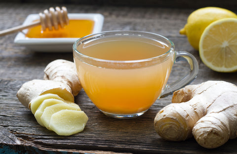 Mix CBD oil in a blend of herbal teas containing ginger and peppermint to quell nausea.