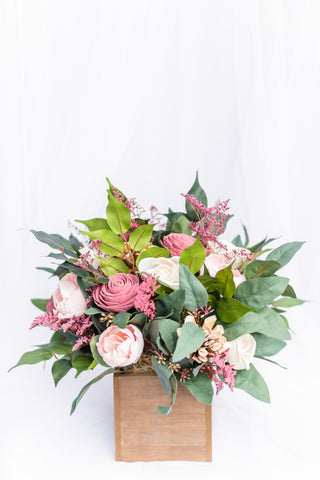 Dusty Rose-mance - Sola Wood Flower Arrangement - Wood Flowers Co.