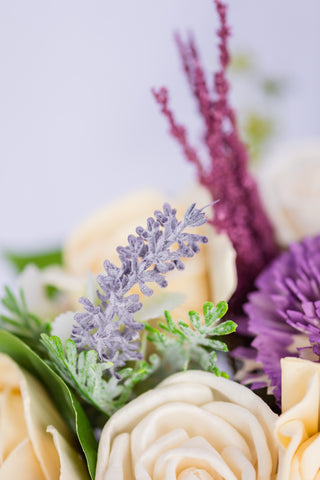 Image of Enchanted Lavender - Sola Wood Flower Arrangement - Wood Flowers Co.