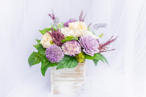 Enchanted Lavender - Sola Wood Flower Arrangement - Wood Flowers Co.