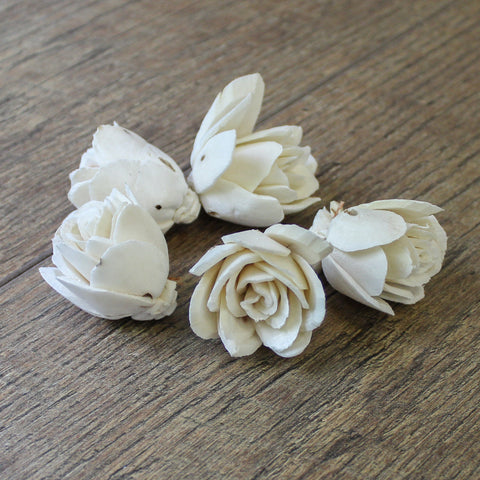 "Image of Rose Bud - 12 Pack - 1.5"" - Wood Flowers Co."