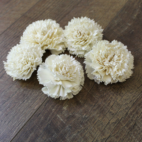 "Carnation - 3"" - Wood Flowers Co."