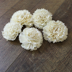 "Carnation - 2.5"" - Wood Flowers Co."